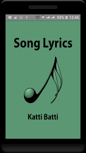 Hindi Lyrics of Katti Batti