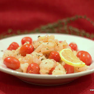 Baked Shrimp with Garlic and Thyme.