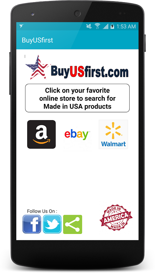 BuyUSfirst- screenshot