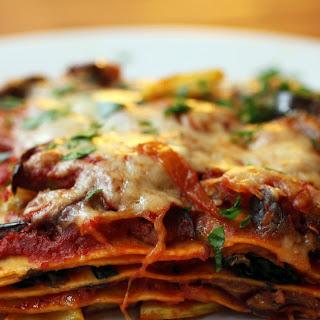 Hearty Vegetarian Lasagna with Shiitake Mushrooms.