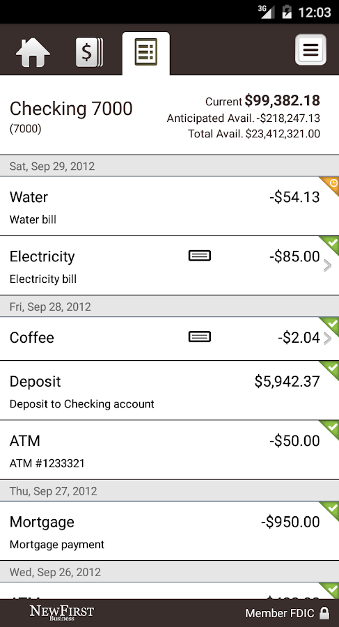 NewFirst Nat'l Bank Business- screenshot