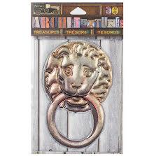 7 Gypsies Architextures Treasures Adhesive Embellishments - Lion Door KnocUTker