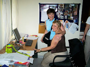 Photo: Missionary and team member in LCMS office