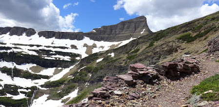 Photo: Look back at Triple Divide Peak as I headed back to the Cut Bank Creek Campground.