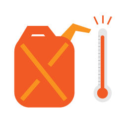 The importance of proper temperature when storing gasoline.
