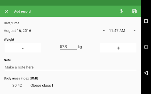 Weight Diary- screenshot thumbnail