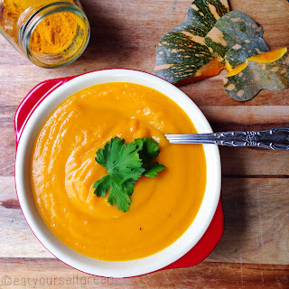 Pumpkin and Turmeric Soup.