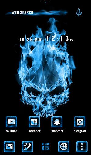 Cool Wallpaper Blue Flame Skull Theme 1.0.0 Windows u7528 1