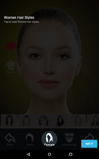 Hairstyle Changer app, virtual makeover women, men- screenshot thumbnail