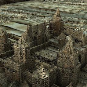 Magical kingdom by Linda Czerwinski-Scott - Illustration Sci Fi & Fantasy ( fantasy, illustration, fractal, design )