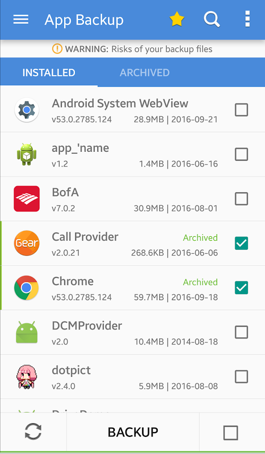 App Backup & Restore- screenshot