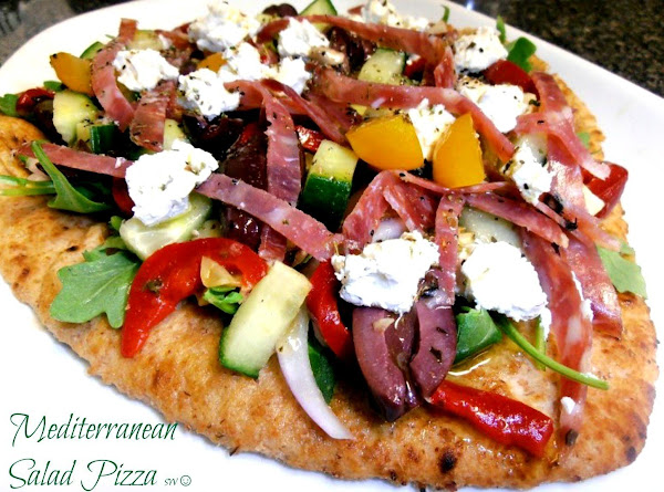 Mediterranean Salad Pizza Recipe