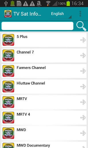 テレビ衛星情報ミャンマー