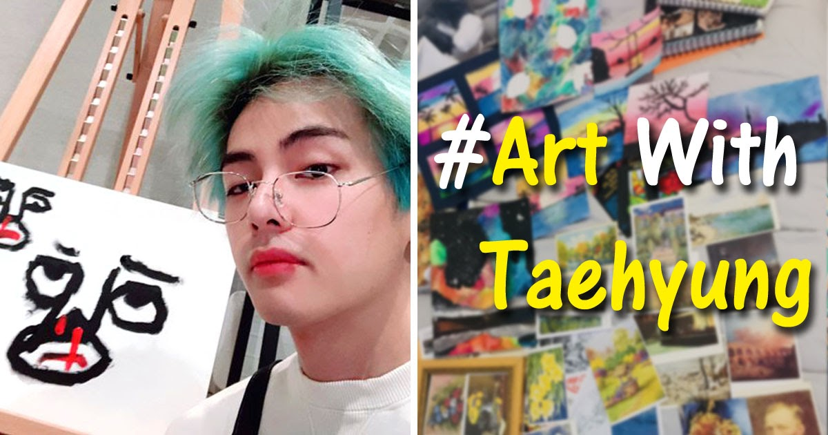 BTS V's Paintings Have Transformed Twitter Into An ARMY Art