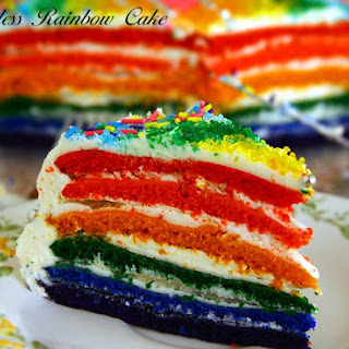 Eggless Rainbow Cake