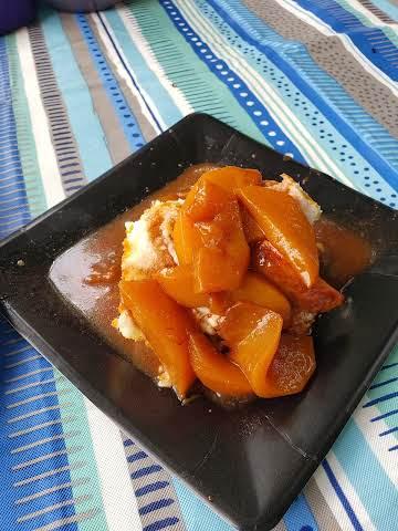 Maple Brown Sugar Peaches