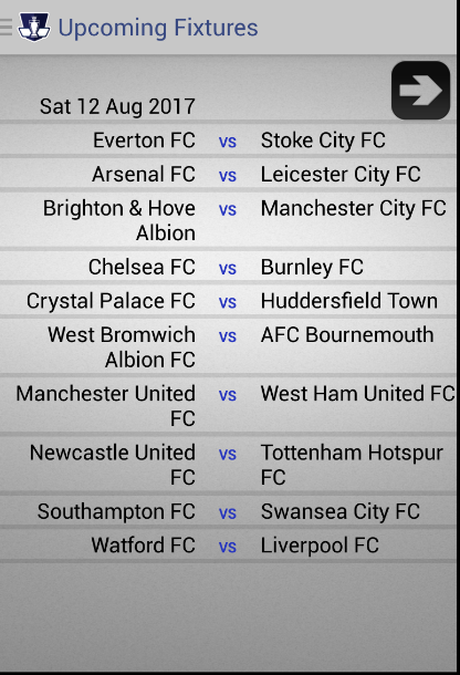 EPL Live updates- screenshot
