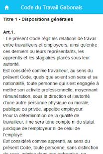 code du travail gabonais pdf