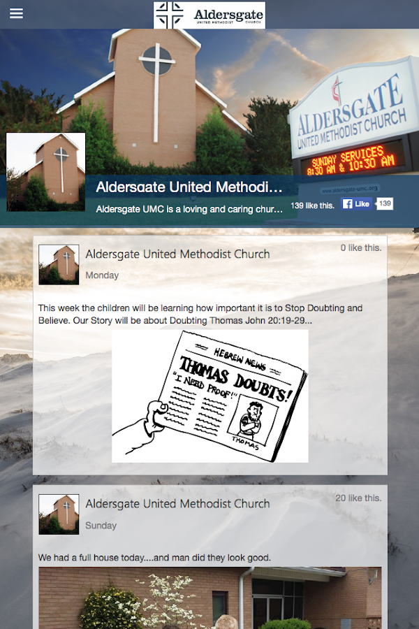 Aldersgate UMC - Rock Hill- screenshot