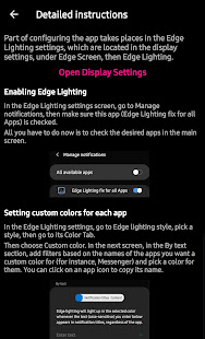 Edge Lighting fix for All Apps Mod