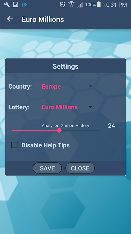 Simple Lottery Analyst- screenshot