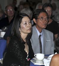 Photo: Dr. Akiko Mikamo, child of Hiroshima survivors, with Hiroshima survivor Mike Kawamura