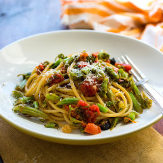 Perciatelli With Baby Broccoli, Tomatoes and Anchovies