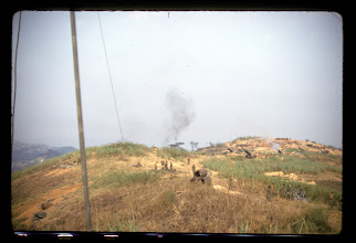 Photo: Bennie Koon Picture of 155 mm artillery.  This may be LZ Wharton and not Peanuts.