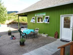 Photo: new patio, outside garage conversion