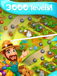 Funny Farm match 3 Puzzle game! APK screenshot thumbnail 7