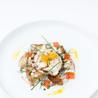 Fried Egg on Sourdough, Swiss Chard, Goat Cheese, & Herbs