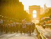 Tourorganisatie laat toeschouwers toe op de Champs-Elysées zondag