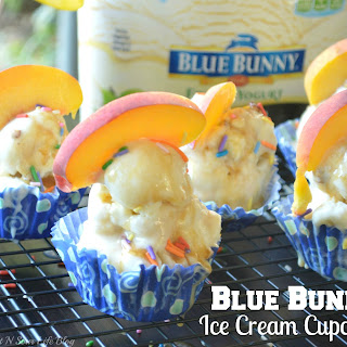 Blue Bunny Ice Cream Cupcakes