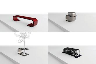 Photo: [urbanmorph] - 2011   urban furniture - bench, litter bin, planter, cycle stand