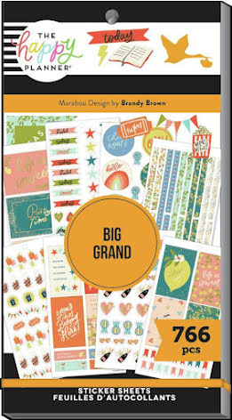 Me & My Big Ideas Happy Planner Stickers Value Pack - BIG Marabou Design 766
