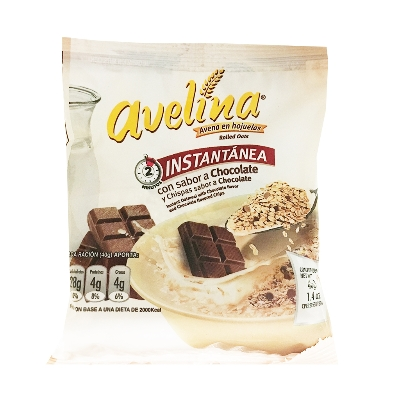 avena avelina instantanea chocolate 40gr