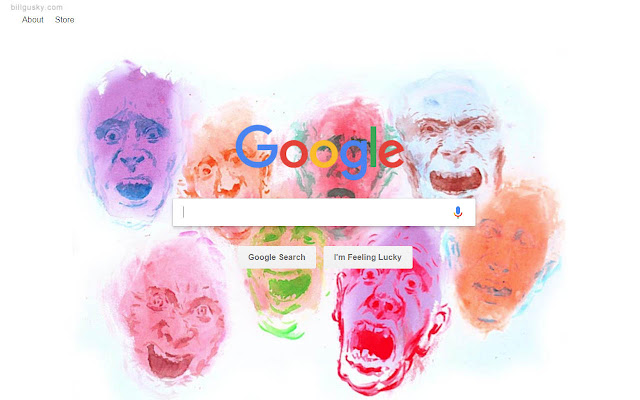 A Gusky Painting for Google Background