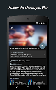 Showly - TV shows tracker screenshot 1