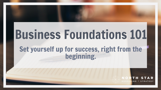 Business Foundations 101: Set yourself up for success, right from the beginning.