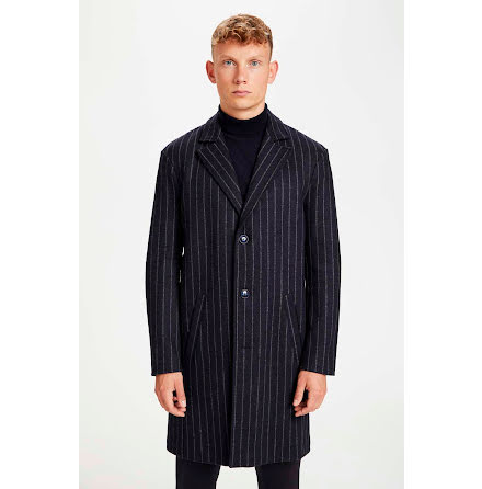 Matinique Lancaster coat striped dark navy