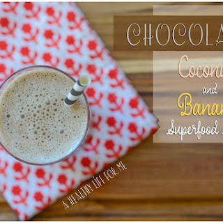 Chocolate Coconut Banana Superfood Smoothie.