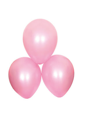 Satinballonger, rosa 6 st