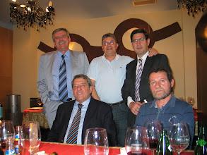 """Photo: 24/5/2007- fotos de nuestro encuentro en Oviedo de Enrique Muñiz, Pedro López, Felipe Tascón,  Julio Correas y Marcelino Iglesias.  """"Resultó un momento absolutamente grato  que prolongamos cuanto pudimos""""."""