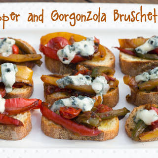 Pepper and Gorgonzola Bruschetta.