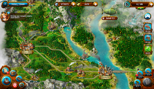 Transport Empire: Steam Tycoon MOD (Unlimited Gold/Money) 5