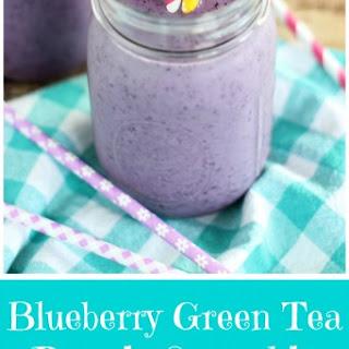 Blueberry Green Tea Protein Smoothie.