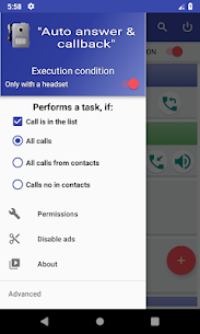Auto answer & callback (hands free) 2.8 Android Mod + APK + Data 1