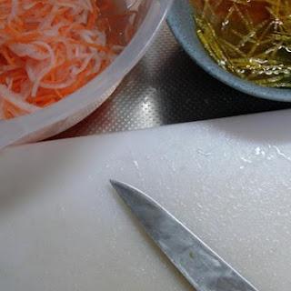 Osechi Japanese Namasu Daikon, Carrots and Yuzu Pickles.