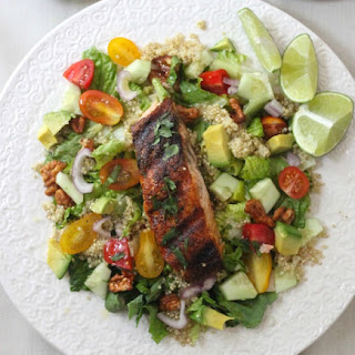 Blackened Salmon Salad with Lime Vinaigrette