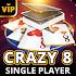 Crazy 8 Offline - Single Player Card Game